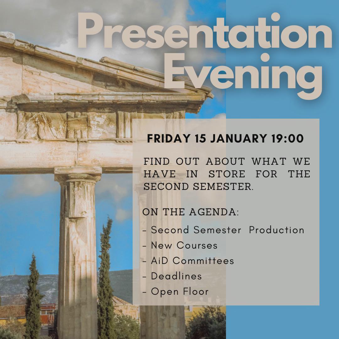 Presentation evening 2.0